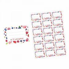 72 Blanko Etiketten Früchte - mit Liebe selbstgemacht - 64 x 45 mm - Universal