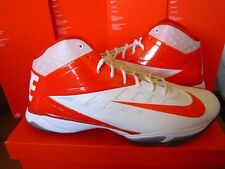 Nike Vapor Pro 3/4 Turf Nubby Football/Lacrosse Shoes White/Orange 527878-188