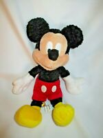"Mickey Mouse 11"" Curly Fuzzy Plush Stuffed Animal Toy Doll Walt Disneyland World"