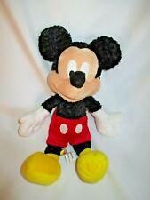 "Mickey Mouse Curly Fuzzy Plush Stuffed Animal Toy Doll Walt Disneyland World 11"""