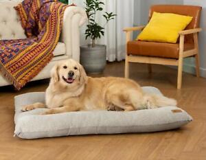 AcornPets® B106 Extra Large XXL Grey Dog Cat Bed Pet Sofa Pillow Mattress Fleece