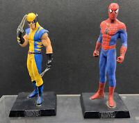 Marvel Eaglemoss 2005 Diecast Figurines - Spider Man  & Wolverine Unboxed