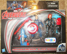 AVENGERS AGE OF ULTRON FIGURES BLACK WIDOW AND CAPTAIN AMERICA EXCLUSIVE