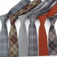 Men's Colorful Tie Cotton Formal Ties Necktie Narrow Slim Skinny Cravat Fashion