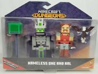 Minecraft Dungeons NAMELESS ONE AND HAL Figures Battle Accessories Mojang New