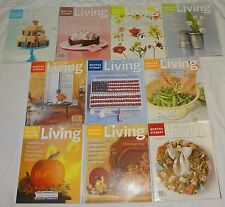 MARTHA STEWART LIVING MAGAZINE 10pc LOT BACK ISSUES 2002 ~ FREE SHIPPING!