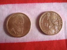 US Münze 1 $ Dollar Geld Money Präsident J GARFIELD PRESIDENT gold Deko rund USA