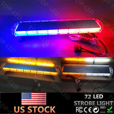 "38"" 72 LED Emergency Beacon Warn Tow Plow Response Flash Strobe Light Bar 12/24V"