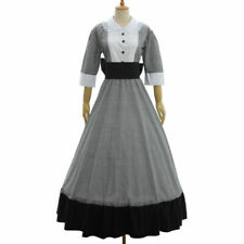 Victorian Women Civil War Maid Long Dress Vintage Reenactment Ball Gown Dress