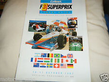 CELLNET F3 SUPERPRIX 1987 PROGRAMME JOHNNY HERBERT JEAN ALESI THOMAS MERZERA