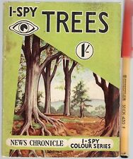 Rare 1955 I-SPY TREES 1/- early UK children's Nature Study collectible in VGC+