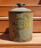 VINTAGE 1930-1940 Merit Motor Oil Can 1-Gallon RARE