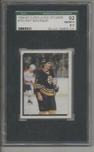 1984-85 OPC Sticker Ray Bourque SGC 92 NM-MT 8.5 Boston Bruins