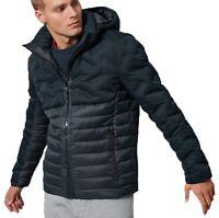 Superdry Mens Radar Quilt Fuji Hooded Zip Up Jacket Padded Winter Coat Eclipse