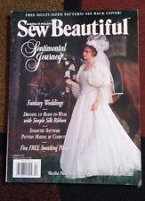 Vintage Sew Beautiful Magazine Spring 1997 ~ Wedding Gown Bride Photos