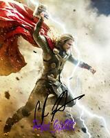 Chris Hemsworth Thor The Dark World SIGNED AUTOGRAPHED 10X8 REPRO PHOTO PRINT