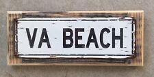 Virginia Beach VA Croatan Outer Banks Surf Surfing Beach Vintage Metal Sign