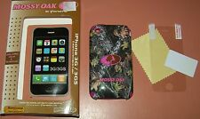 Mossy Oak Hybrid Camo & Pink hard shell case for iPhone 3G/3GS, w screen protect