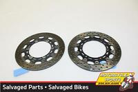 2000 Yamaha YZF600R OEM FRONT LEFT RIGHT BRAKE ROTORS DISCS 4SV-2581T-01-00 A8