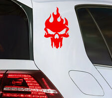 Calavera auto pegatinas Fire Skull sticker calavera fuego moto motorista quad