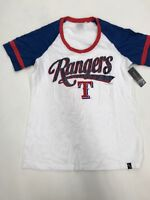 MLB Team Apparel Texas Rangers White Blue Red Girls Sample Size 10/12 Nice New