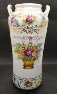 Tall Hand Painted Japanese Vase