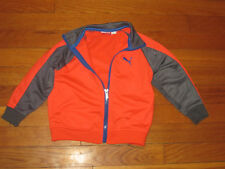 PUMA FULL ZIP ORANGE/GRAY TRACK JACKET BOYS TODDLER 2T EXCELLENT CONDITION