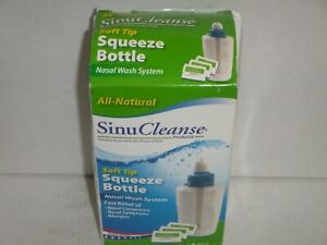 SinuCleanse Squeeze Nasal Wash Bottle All Natural Saline 30 Packets for Sinus