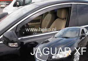 For JAGUAR XF I X250 2007 - 2015  4.doors Wind deflectors 2.pc  HEKO 18304 FRONT