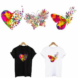 Butterfly Iron on Patches 3Pc Colorful Cute Animal Heat Transfer Stickers Decal