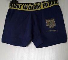 ED HARDY KIDS BOXER 100% COTON TAILLE 8 ANS (S ENFANT) COLORIS MARINE NAVY 406