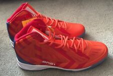 AND1 Xcelerate High Basketball Shoes Sneakers 17 Sample, Orange, F1 Red- Marina