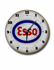 "ESSO 250MM/10"" DIAMETER METAL WALL CLOCK,GARAGE CLOCK,WORKSHOP CLOCK."