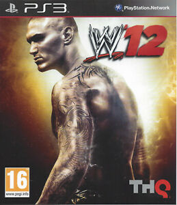 WWE 12 for Playstation 3 PS3 - with box & manual