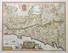 ITALIEN RIVIERA DI GENOVA DI LEVANTE GENUA LIGURIEN MEER WAPPEN FREGATTE 1640