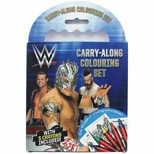 WWE Carry Along Colouring Set with crayons