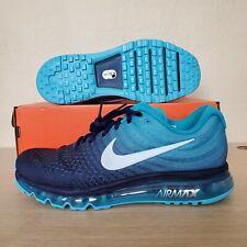 cheaper 6b0c9 675b7 Nike Air Max 2017 Running Shoes Binary Blue Glacier Grey Size 11 (  849559-404