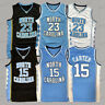 North Carolina Tar Heel Michael Jordan 23 Vince Carter 15 Mens Basketball Jersey
