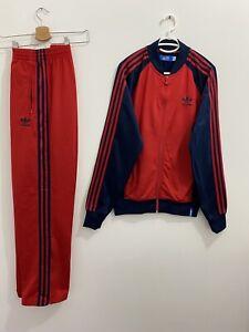 Adidas Originals Superstar Tracksuit Navy Red Size M