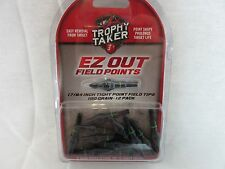 One Dozen Trophy Taker EZ out field points 100 grain 19/64 17/64 5/16 9/32