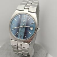 Vintage Wittnauer Q 115 C 8111 Men's Quartz watch date ETA-ESA 9362 swiss 1970s