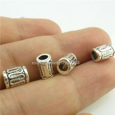 14949*50 Silver Vintage Wire Curved Beads 8mm Tube Spacer Beads Alloy Antique
