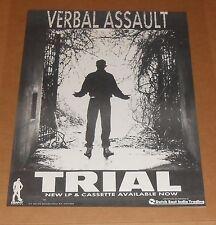 Verbal Assault Trial Poster Original Promo 21x16 Rare