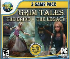 GRIM TALES THE BRIDE + THE LEGACY Hidden Object 2 PACK PC Game DVD-ROM NEW