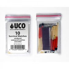 10 UCO Stormproof Matches Lot of 5 /Strikers Waterproof & Windproof Emergency
