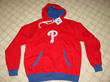 Official Philadelphia PHILLIES HOODED LINED STITCHED Sweatshirt NWT ....  XLarge