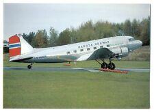 Dakota Norway Airlines Postcard Douglas DC-3C