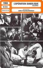 FICHE CINEMA : OPERATION DIABOLIQUE Campanella,Randolph,Frankenheimer1966Seconds