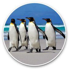 2 x Vinyl Stickers 30cm - Cool Beach Penguins Walking Penguin  #44709