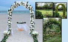 Metal Wedding Arch Way Garden Ceremony Decoration Tulle Balloons Flowers 2.4m